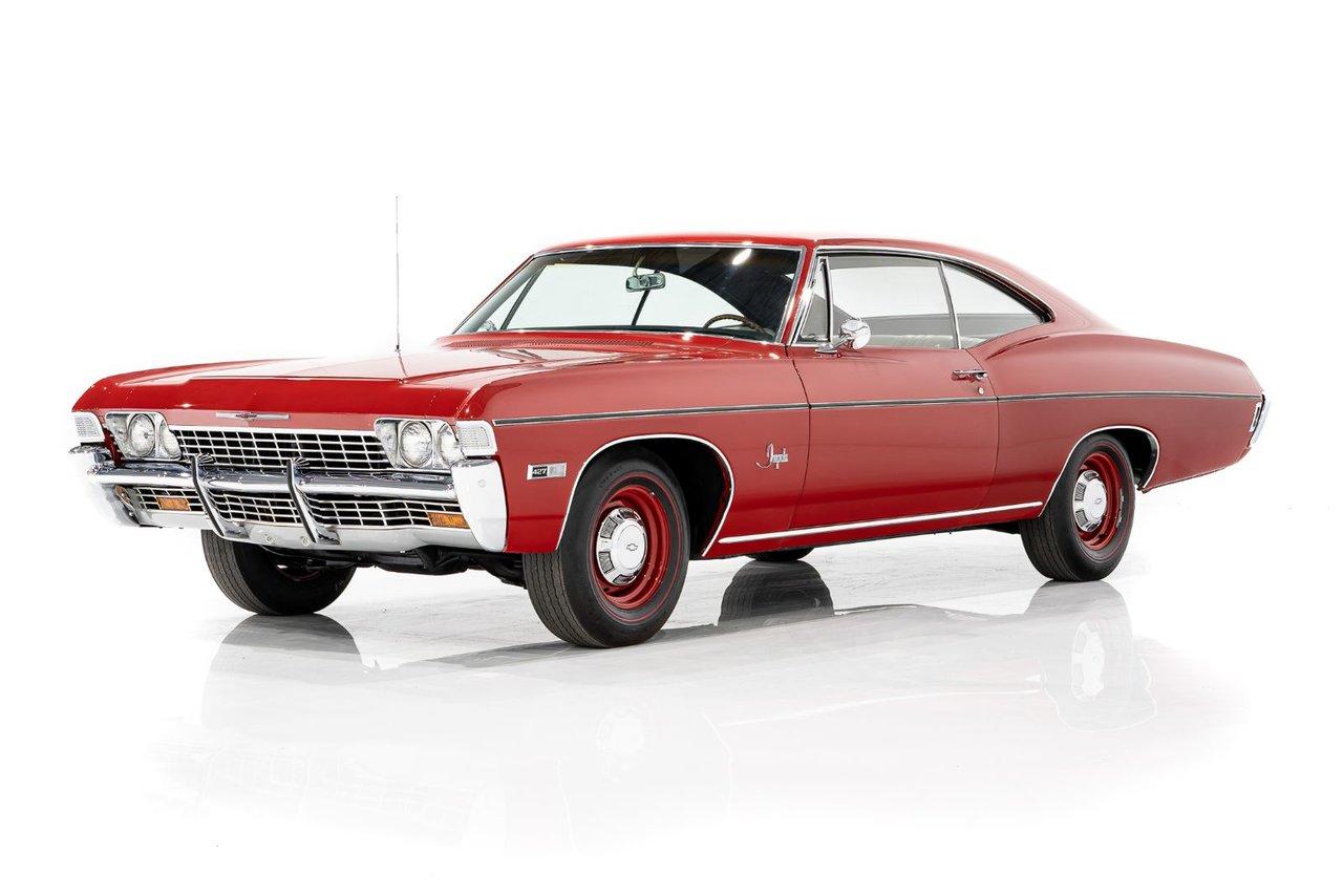 Chevrolet Impala Matching Numbers L-72  427/425 HP 4vit. 4.56 Gear selon Fiche Tech. Avec Facture de Vente Original 1968