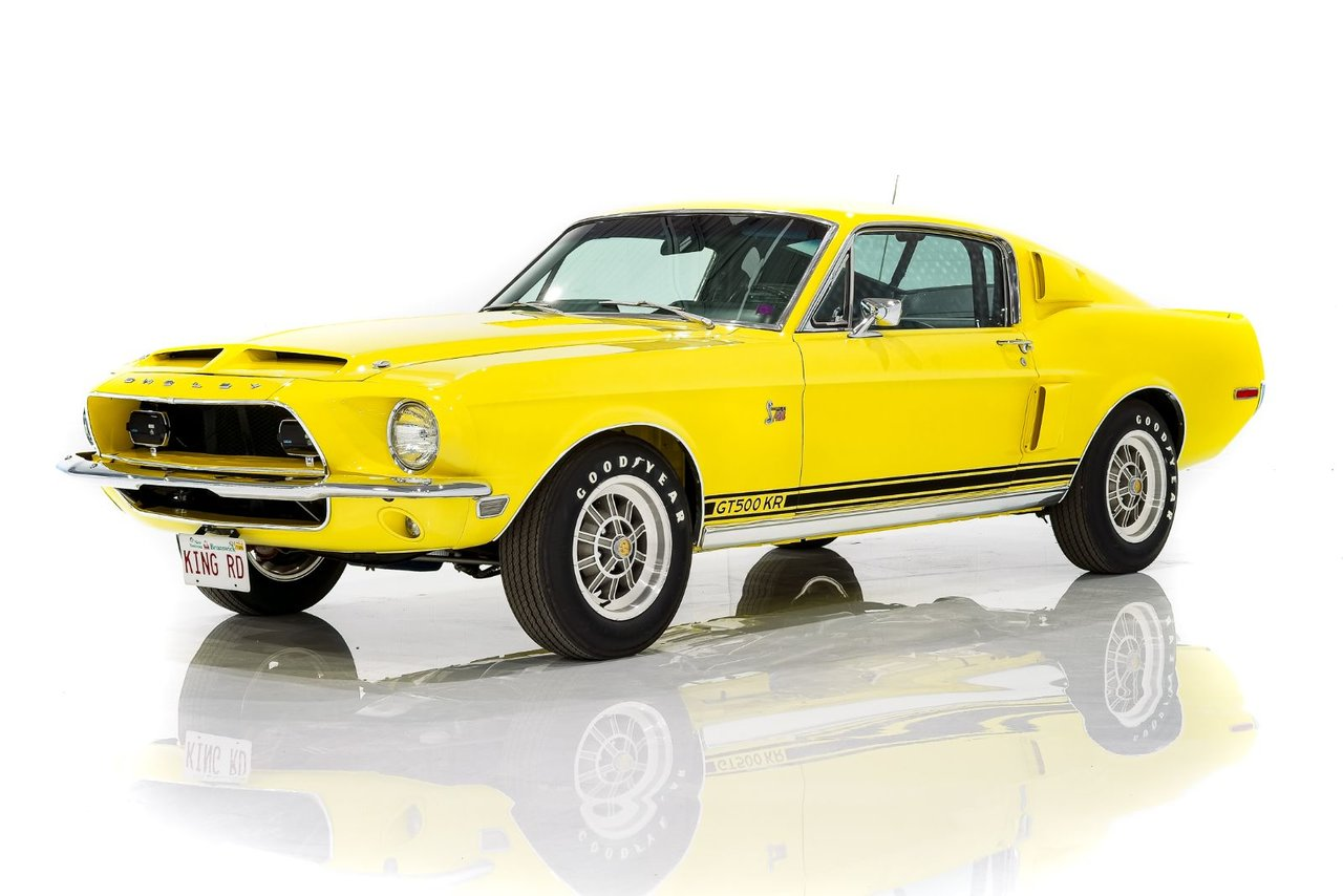 Shelby GT500 KR Matching numbers 428CJ Rapport Marti certifiée 1 de 12 voitures Canadienne couleur Fleet Yellow 1968