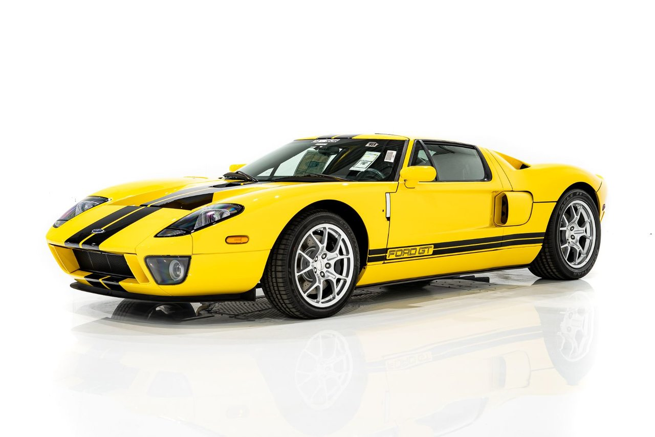 Ford GT 22.1miles from new with Manufacturer Labeling, holding original Ford title #63 of 96 in Speed Yellow 2005