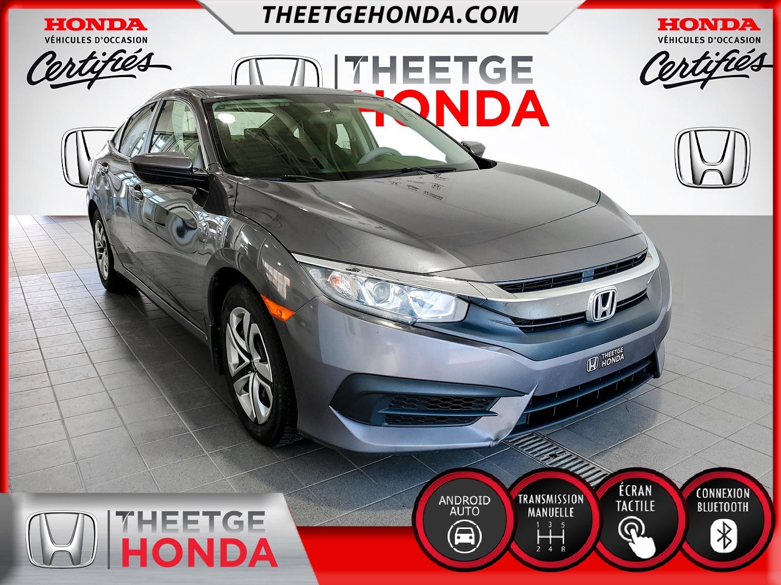 Honda Civic LX MANUEL 2016 à vendre à Boischatel près de Québec