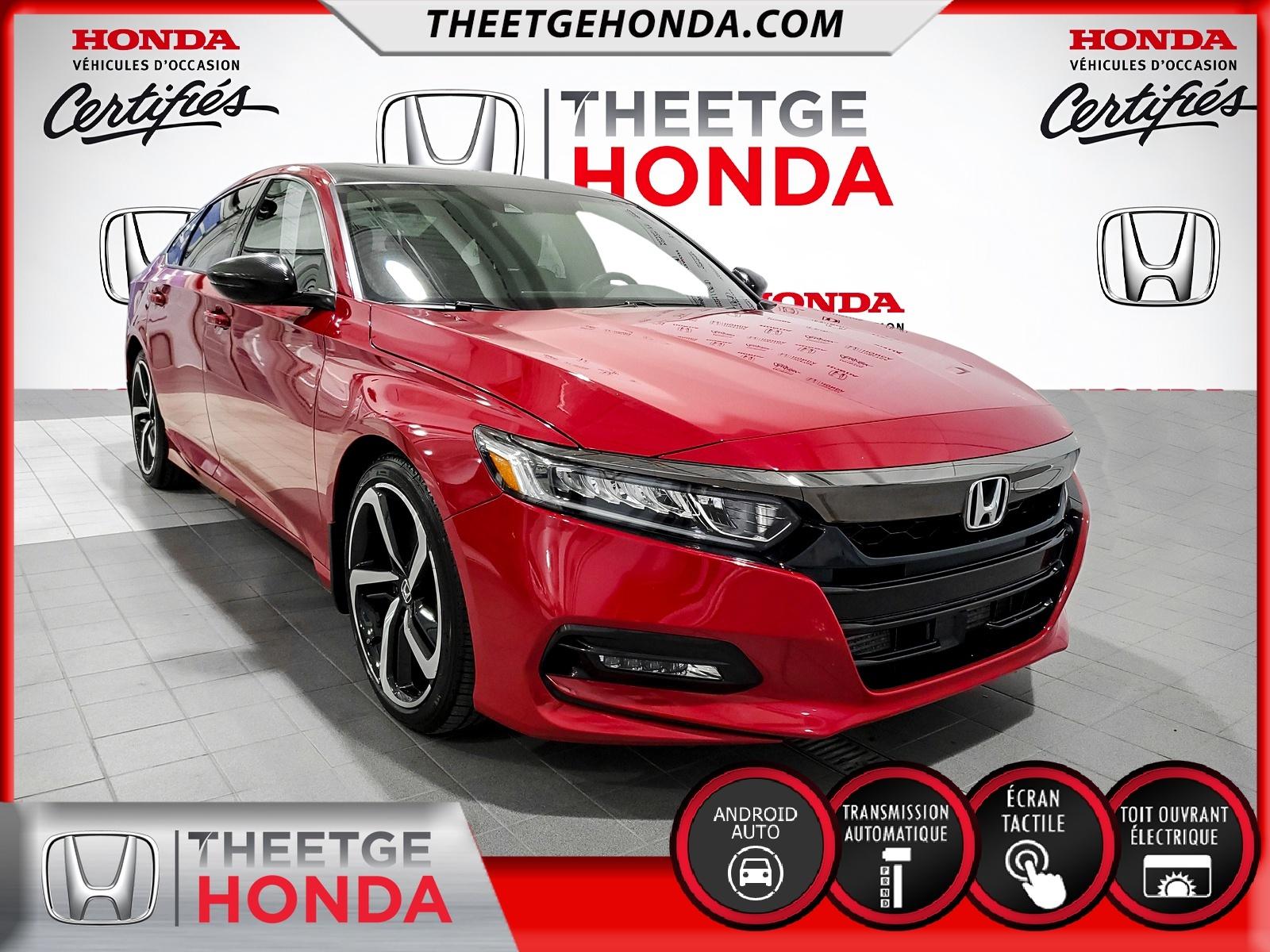 Honda Accord Sedan Sport 1.5T CVT 2018 à vendre à Boischatel près de Québec