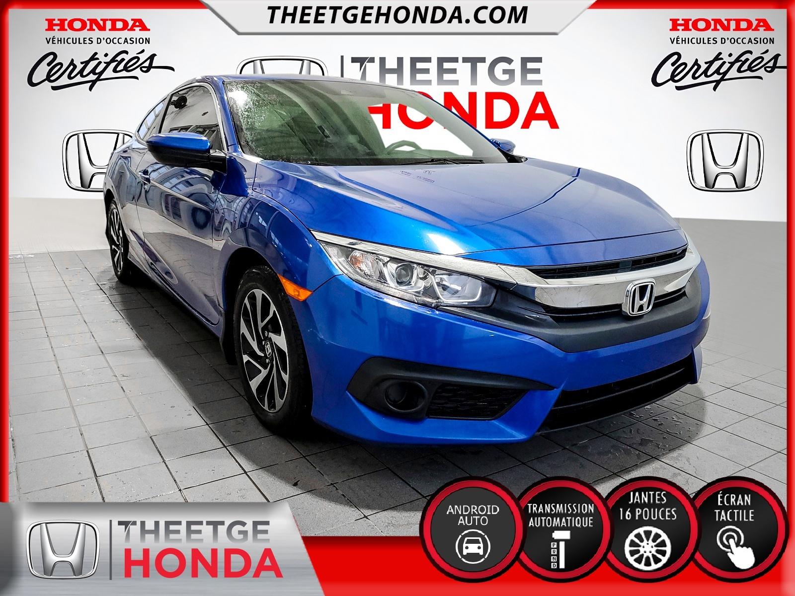 Honda Civic Coupe automatique 2018 à vendre à Boischatel près de Québec
